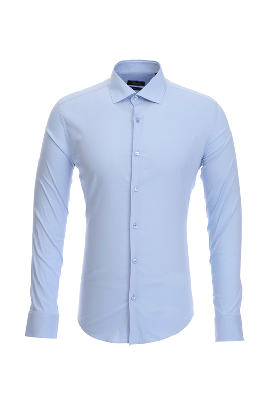Рубашка мужская BAWER 1R00017 голубая 46