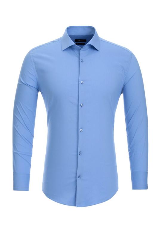 Рубашка мужская BAWER 1R00016 синяя 46