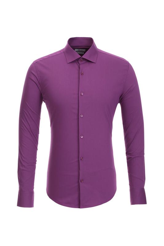 Рубашка мужская BAWER 1R00013 фиолетовая 44