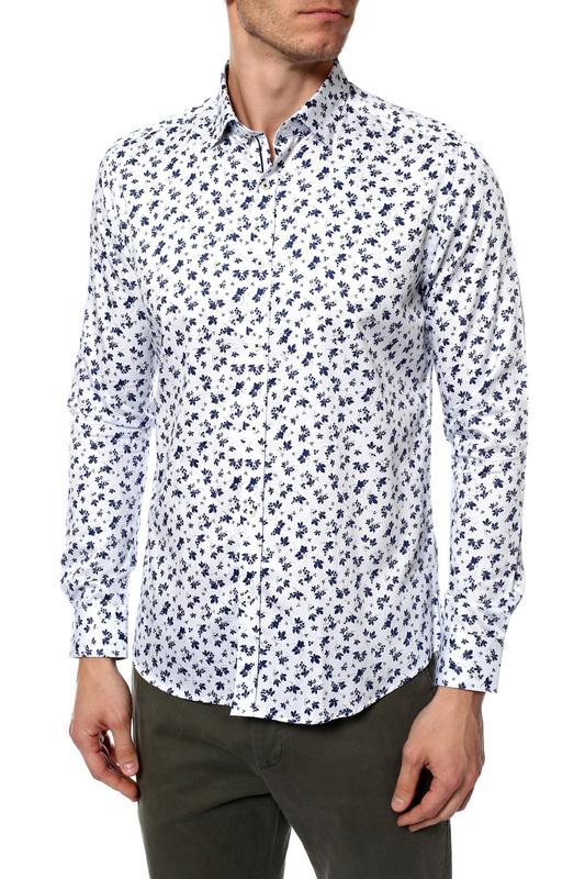 Рубашка мужская MONDIGO 16660 голубая 46