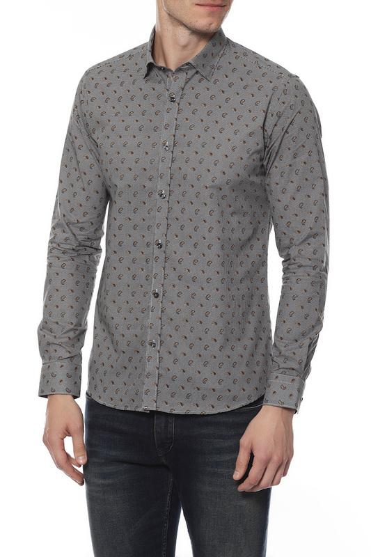 Рубашка мужская MONDIGO 16647 серая 46