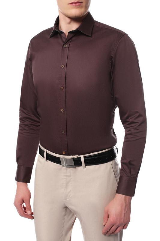 Рубашка мужская MONDIGO 16580 коричневая 48
