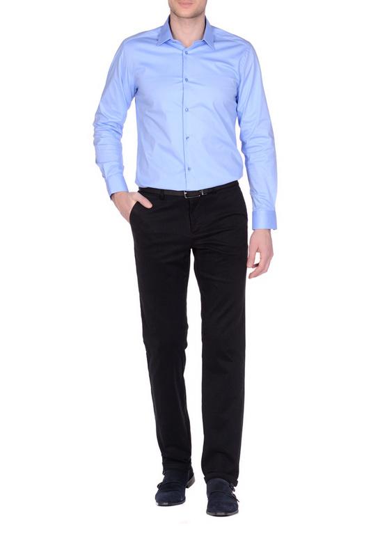 Рубашка мужская KarFlorens 13491-01 голубая 46