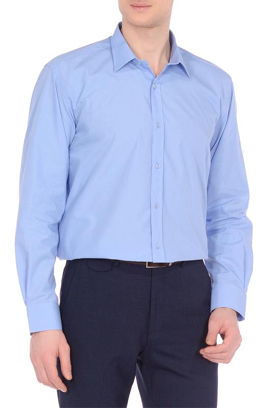 Рубашка мужская KarFlorens 1060-18 голубая 50