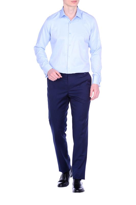 Рубашка мужская KarFlorens 10143-04 голубая 50