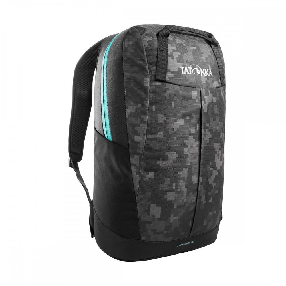 Рюкзак мужской Tatonka City Pack 20 black digi camo серый