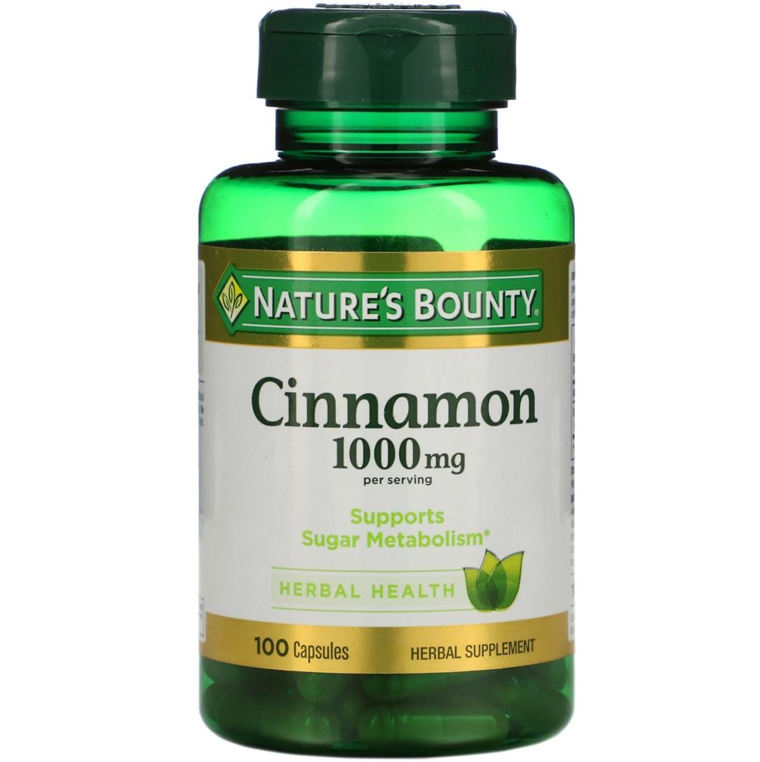 Купить Cinnamon 1000 мг, Cinnamon Nature's Bounty 1000 мг капсулы 100 шт.