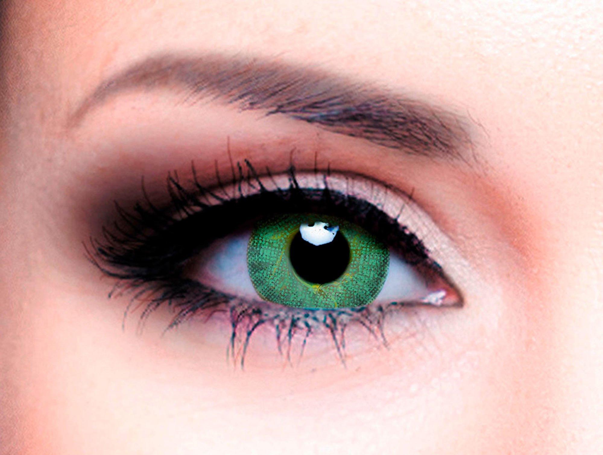 Купить Цветные контактные линзы Офтальмикс Colors 2 линзы (New) R 8, 6 -1, 00 Зеленые