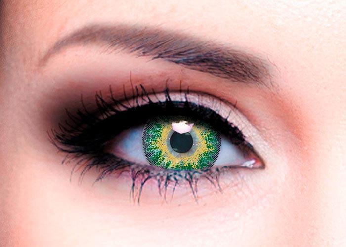 Ophthalmix Butterfly, Цветные контактные линзы Офтальмикс Butterfly 3 Т 2 шт. PWR -4, 00, R 8.6, Green  - купить со скидкой