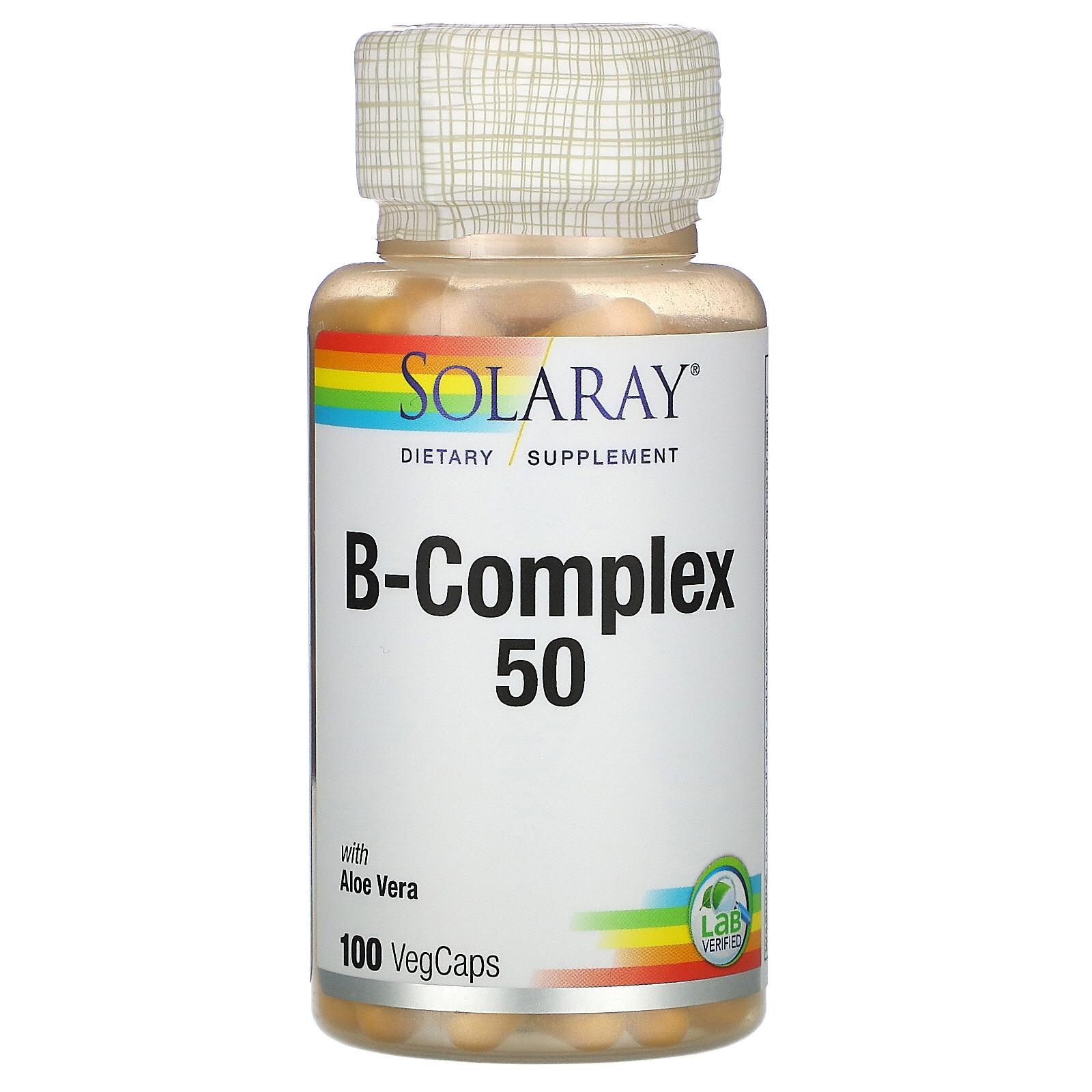 B-Complex 50 Solaray капсулы 100 шт.