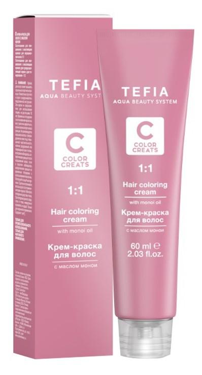 Купить Краска для волос TEFIA 1.0, черный / Color Creats 60 мл 24693