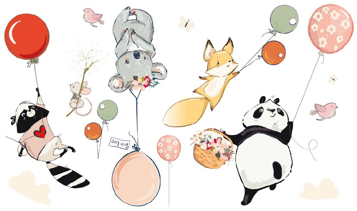 Купить Наклейки интерьерные, Наклейки Laika интерьерные Малыши на воздушных шариках 2115, LAICA,