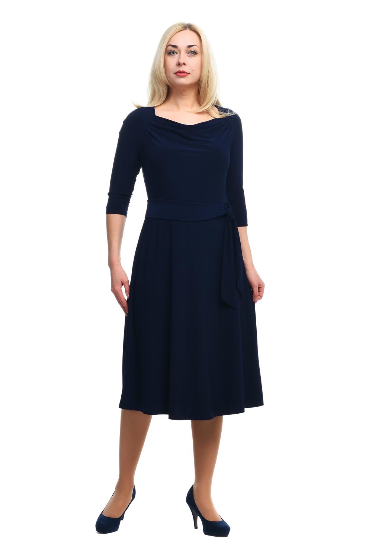 Платье женское OLSI 1805028 синее 58 RU