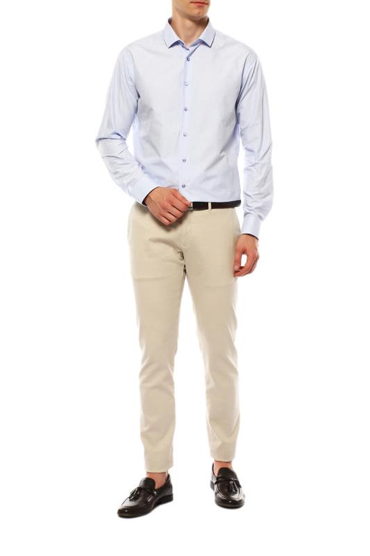 Рубашка мужская VAN CLIFF EXCLUSIVE 15958 голубая 45-182