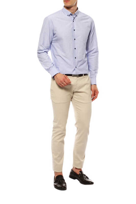 Рубашка мужская VAN CLIFF EXCLUSIVE 15956 голубая 39-176