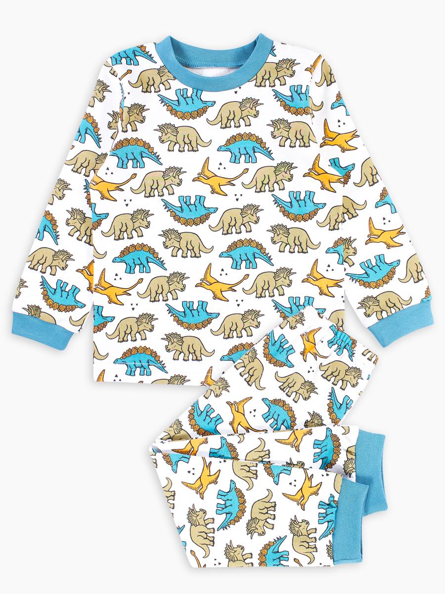 Купить 364320_бирюзовый, Пижама Веселый малыш Dino 364320/N_134 для мальчиков цв.бирюзовый р.134,