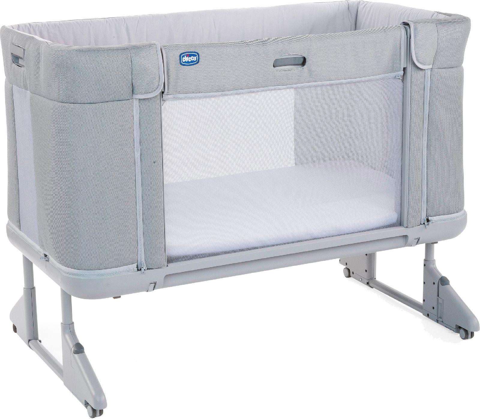 Кроватка Chicco Next2Me Forever, расцветка Cool Grey