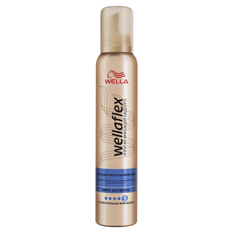 Купить Мусс для волос Wella Wellaflex Объем и Восстановление 200 мл, Мусс для волос Объем и Восстановление