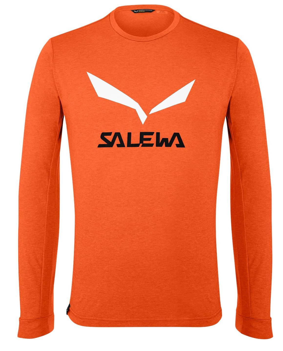 Лонгслив мужской Salewa 00-0000027340 оранжевый 52 RU