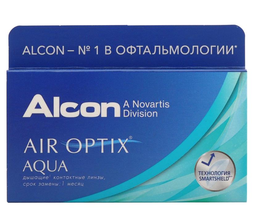 Купить Aqua 3 линзы + Biotrue, Air Optix Aqua (3 линзы) + Biotrue 300 мл.(8.6, -5.25)