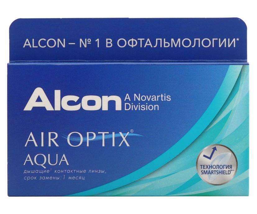 Купить Aqua 3 линзы + Biotrue, Air Optix Aqua (3 линзы) + Biotrue 300 мл.(8.6, -4.25)