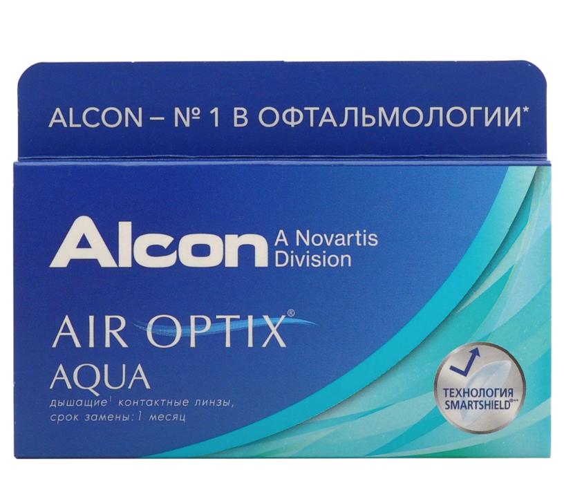 Купить Aqua 3 линзы + Biotrue, Air Optix Aqua (3 линзы) + Biotrue 300 мл.(8.6, -3.25)