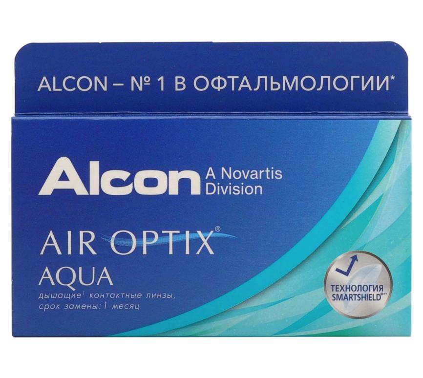 Купить Aqua 6 линз + Biotrue, Air Optix Aqua (6 линз) + Biotrue 300 мл.(8.6, -10.00)