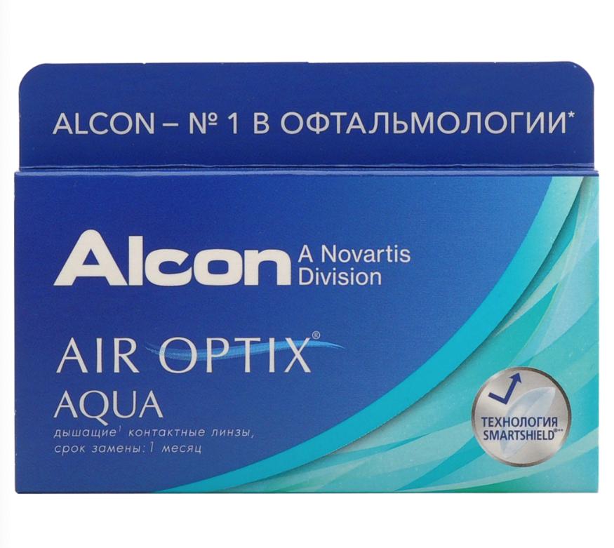 Купить Aqua 6 линз + Biotrue, Air Optix Aqua (6 линз) + Biotrue 300 мл.(8.6, -9.50)