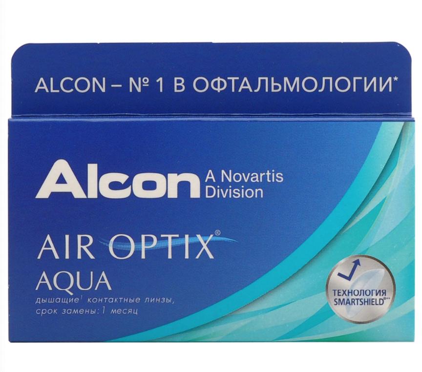 Купить Aqua 6 линз + Biotrue, Air Optix Aqua (6 линз) + Biotrue 300 мл.(8.6, -9.00)