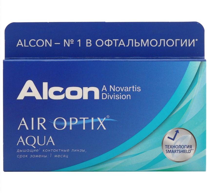 Купить Aqua 6 линз + Biotrue, Air Optix Aqua (6 линз) + Biotrue 300 мл.(8.6, -8.50)