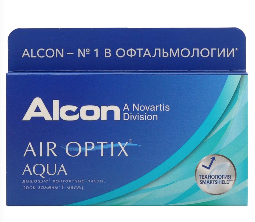 Купить Aqua 6 линз + Biotrue, Air Optix Aqua (6 линз) + Biotrue 300 мл.(8.6, -7.00)