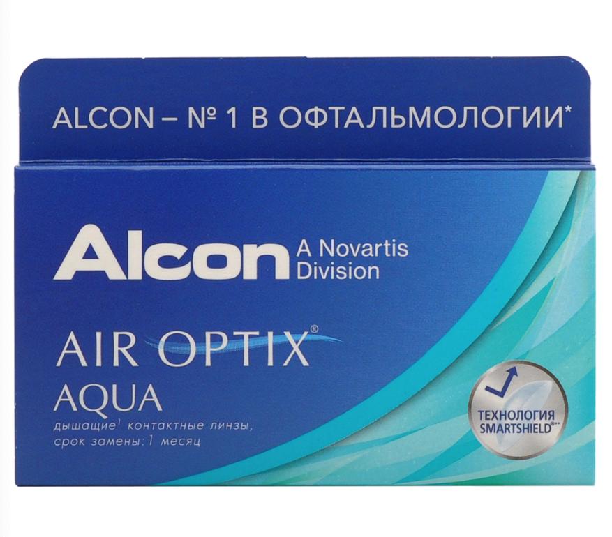 Купить Aqua 6 линз + Biotrue, Air Optix Aqua (6 линз) + Biotrue 300 мл.(8.6, -6.50)