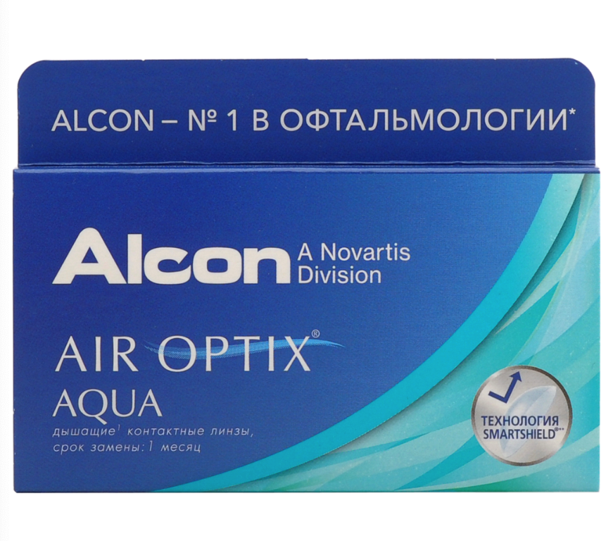 Купить Aqua 6 линз + Biotrue, Air Optix Aqua (6 линз) + Biotrue 300 мл.(8.6, -5.00)