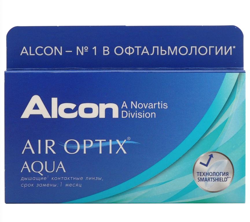 Купить Aqua 6 линз + Biotrue, Air Optix Aqua (6 линз) + Biotrue 300 мл.(8.6, -4.50)