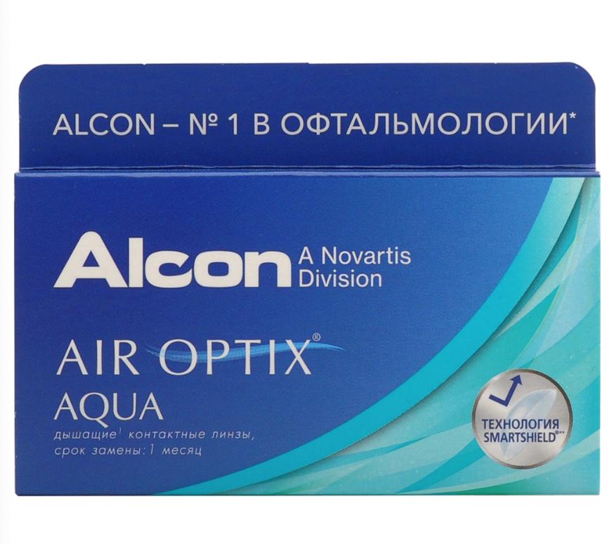 Купить Aqua 6 линз + Biotrue, Air Optix Aqua (6 линз) + Biotrue 300 мл.(8.6, -4.25)