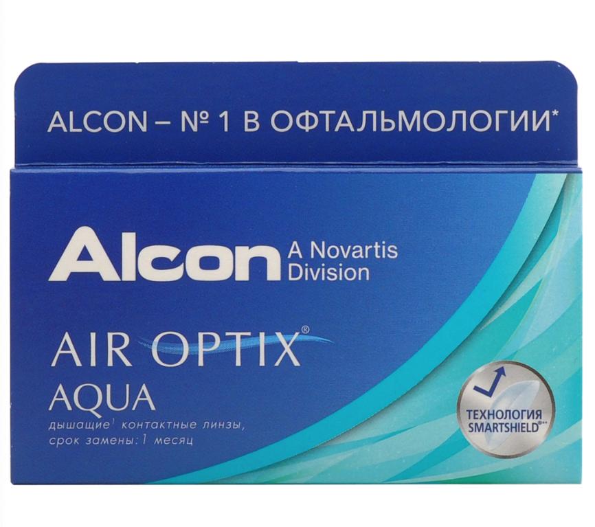 Купить Aqua 6 линз + Biotrue, Air Optix Aqua (6 линз) + Biotrue 300 мл.(8.6, -3.75)