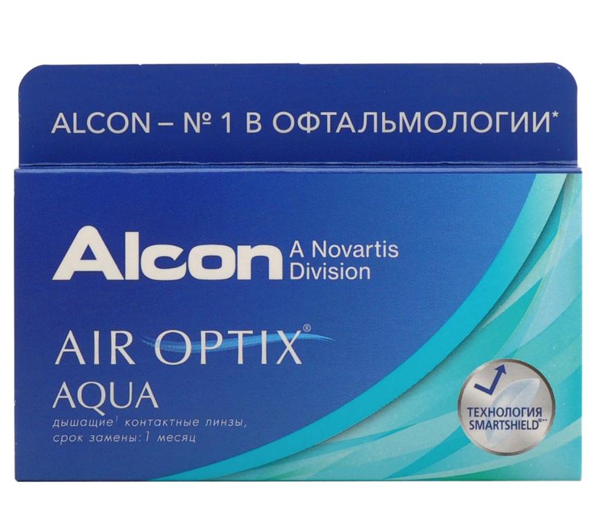 Купить Aqua 6 линз + Biotrue, Air Optix Aqua (6 линз) + Biotrue 300 мл.(8.6, -3.25)