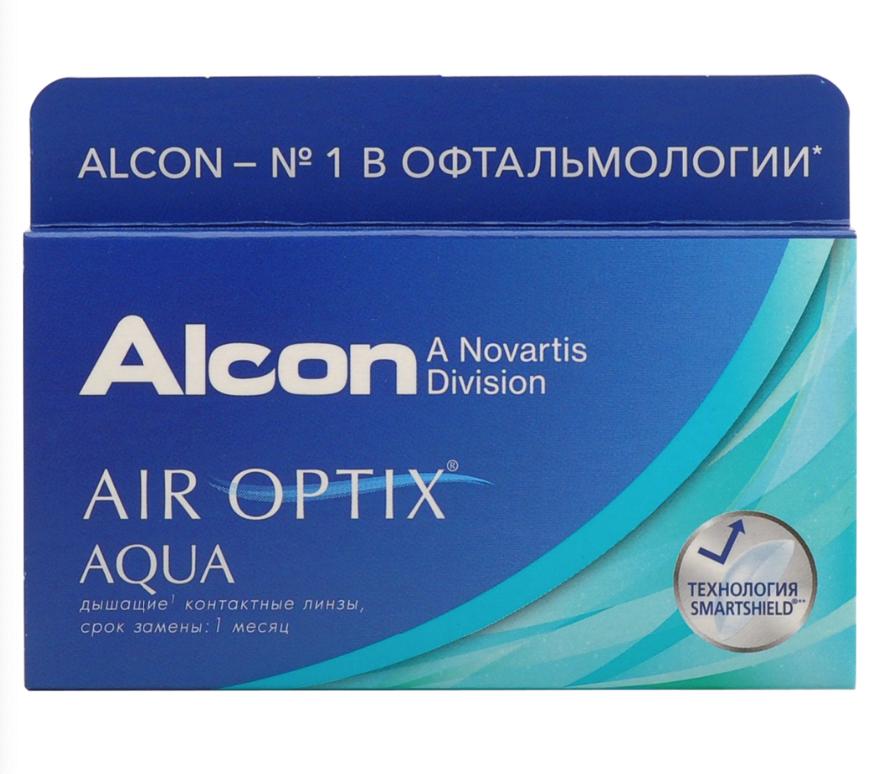 Купить Aqua 6 линз + Biotrue, Air Optix Aqua (6 линз) + Biotrue 300 мл.(8.6, -1.25)