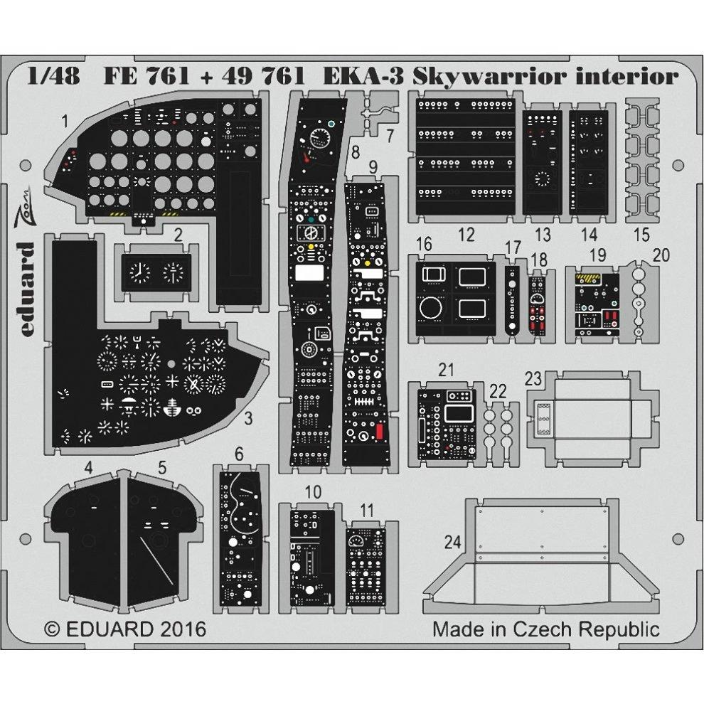 Фототравление Eduard EKA 3 Skywarrior interior