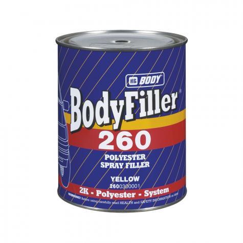 Шпатлевка жидкая HB BODY 260, 1,65 кг