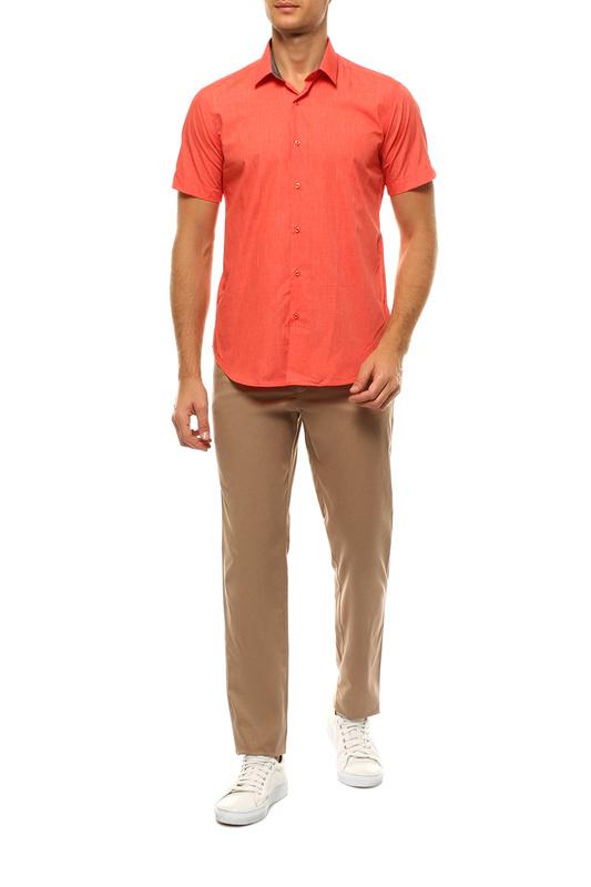 Рубашка мужская Van Cliff 14539 красная XL-43-44