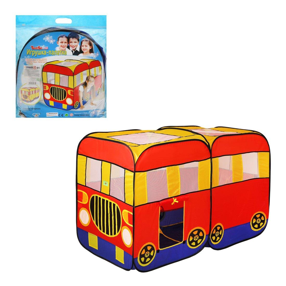Купить Палатка игровая Автобус 148х75х98 см Наша Игрушка 624073, Наша игрушка,