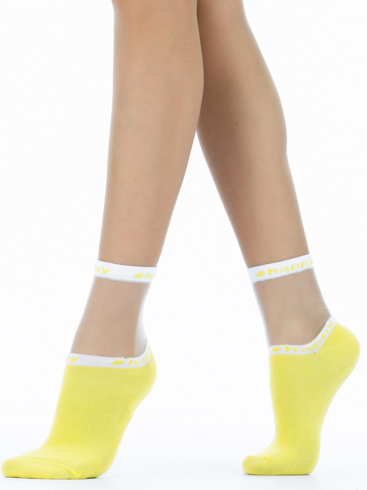 Носки женские Giulia WS2 CRYSTAL 039 желтые 36-38