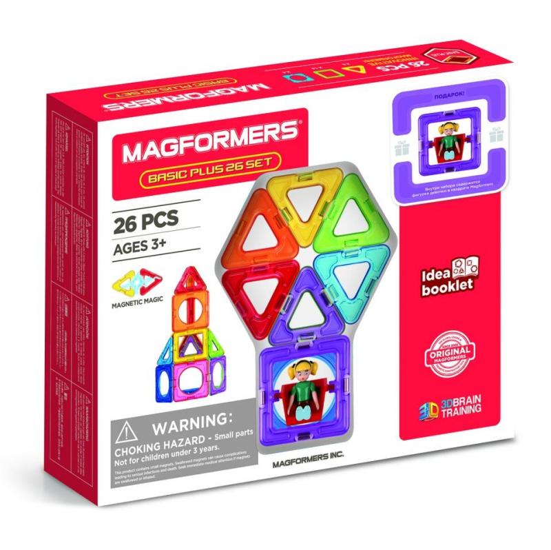 Купить Магнитный конструктор Basic Plus 26 Set MAGFORMERS 207438,