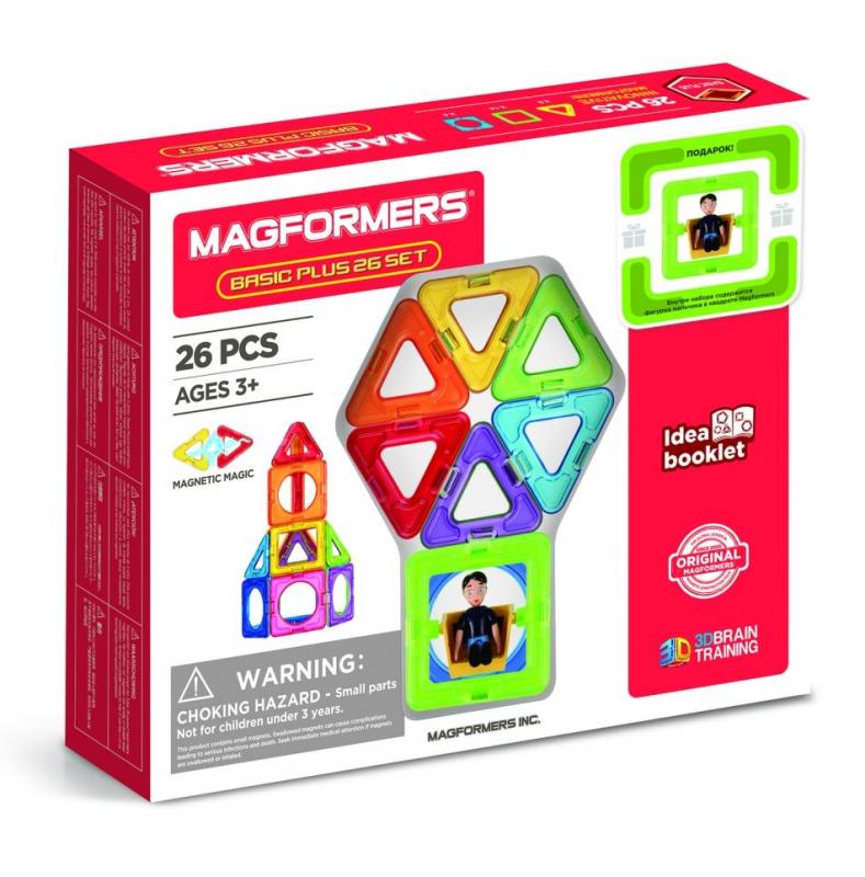 Купить Магнитный конструктор Basic Plus 26 Set MAGFORMERS 207437,