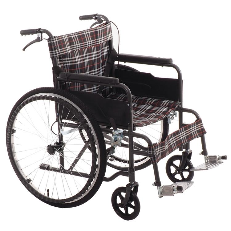 Кресло коляска облегченная с дышащей тканевой обивкой