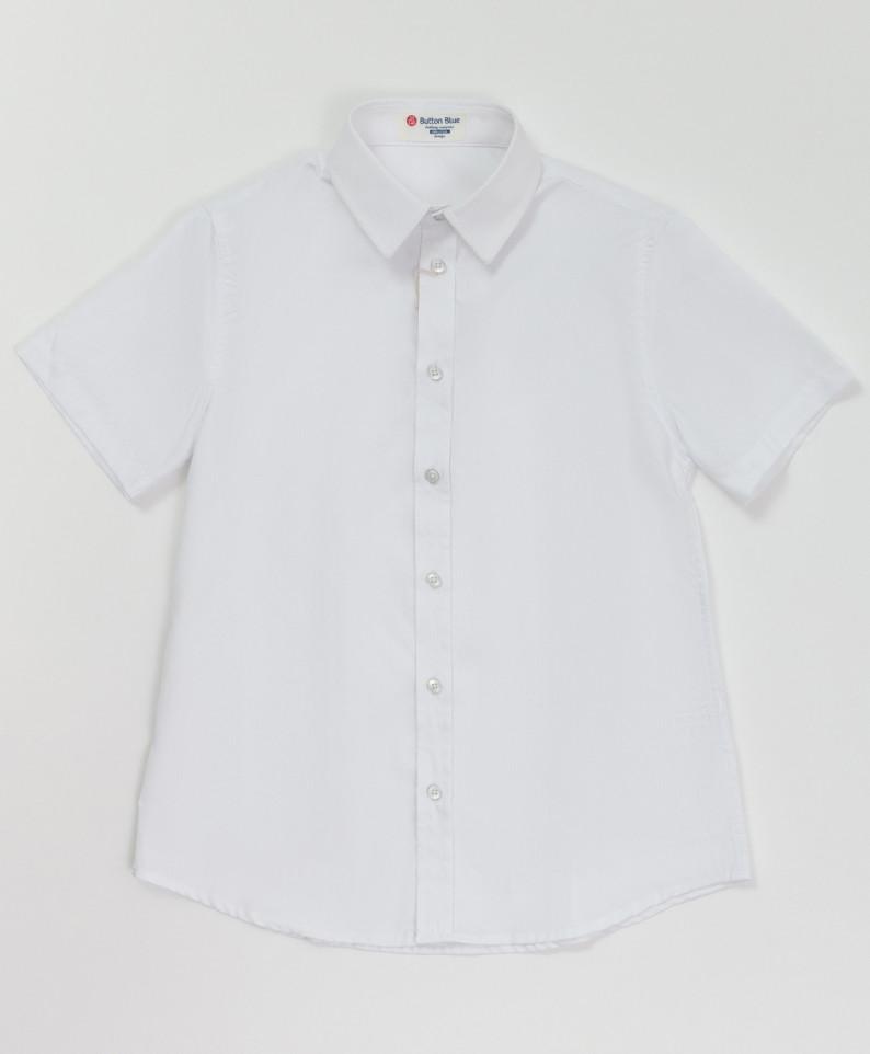 Купить 220BBBS23050205, Белая фактурная рубашка Button Blue для мальчиков 146,