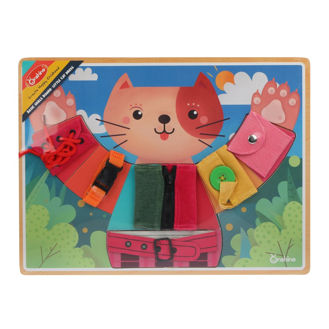 Купить Головоломка-шнуровка Мишкины застежки Наша Игрушка 800522, Наша игрушка,