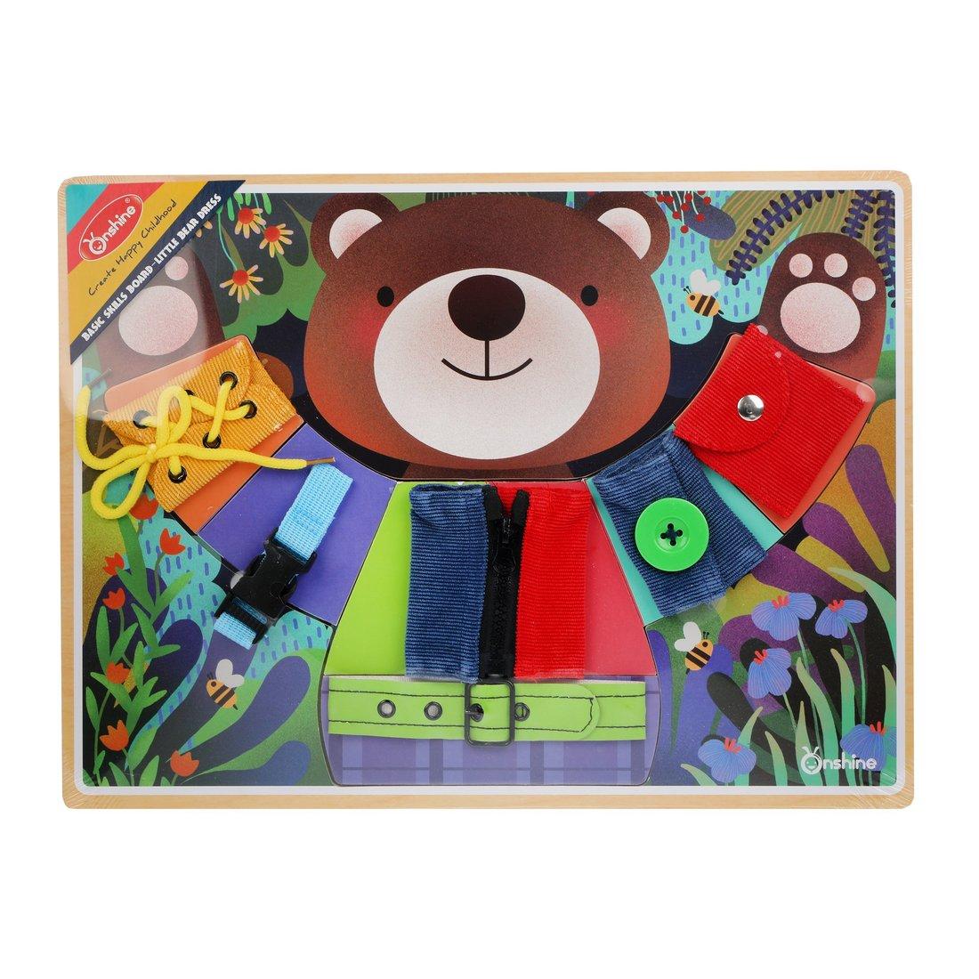 Купить Головоломка-шнуровка Мишкины застежки Наша Игрушка 800521, Наша игрушка,