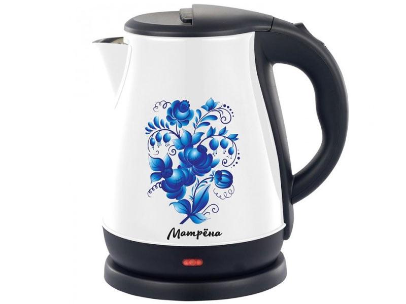 Чайник электрический Матрена MA 003 Гжель Steel/White